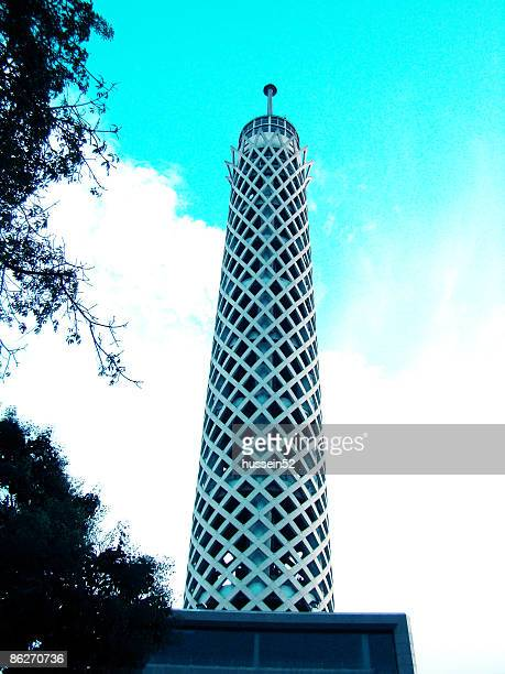 egypt cairo tower - hussein52 stock photos and pictures