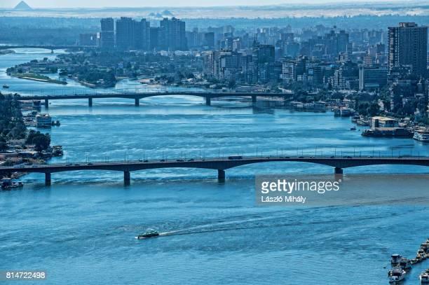 egypt, cairo. view of the nile - zamalek photos et images de collection
