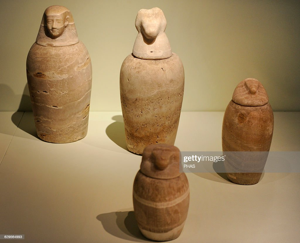 Canopic jars. Archaeological Museum. Istanbul. Turkey. & Canopic jars. Egypt. Pictures | Getty Images