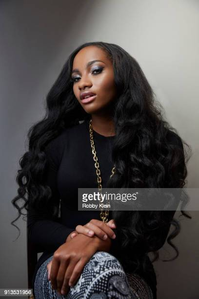 Egypt Criss from 'Growing Up Hip Hop' poses for a portrait in the YouTube x Getty Images Portrait Studio at 2018 Sundance Film Festival on January 20...