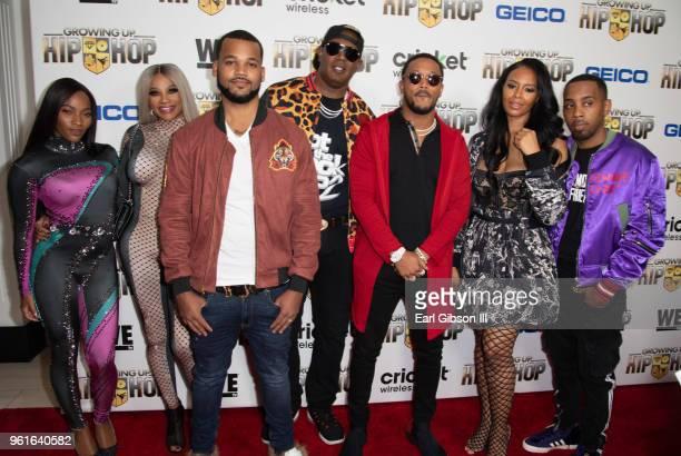 Egypt Criss, Sandy 'Pepa' Denton, Damon 'Boogie' Dash, Master P, Romeo Miller, Vanessa Simmons and Joseph 'JoJo' Simmons attend the Premiere Of...