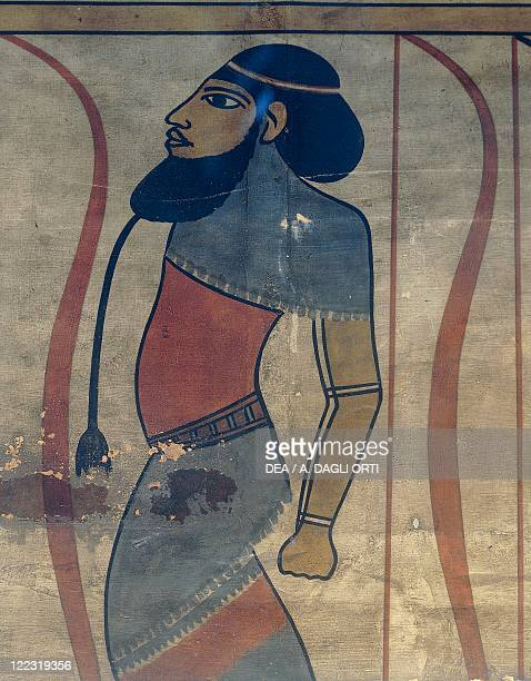 Egypt Floor decoration from the Palace of Akhenaten at Amarna eighteenth dynasty