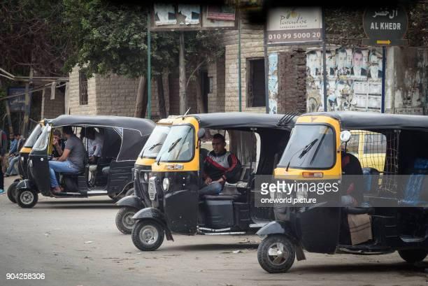 Egypt, Giza Governorate, Dahshur, Street Scene.