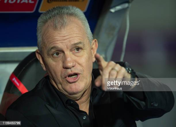 Egypt Head Coach Javier Aguirre during the 2019 Africa Cup of Nations Group A match between Uganda and Egypt at Cairo International Stadium on June...