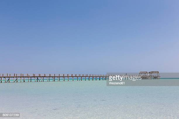 Egypt, Hurghada, view from Giftun Island to jetty at Orange bay