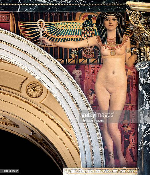 Egypt I Spandrel above the grand staircase Kunsthistorisches Museum Vienna 18901891 Found in the collection of Art History Museum Vienne Artist Klimt...