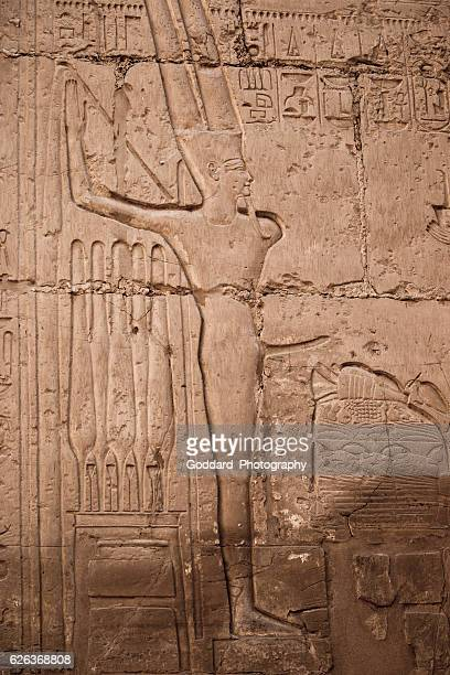 egypt: karnak temple complex - erection stock photos and pictures