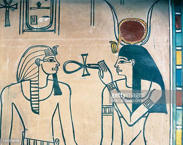 Egypt Luxor Ancient Thebes Valley of the Kings Amenofi II's tomb The King and the Goddess New Kingdom Dynasty XVIII
