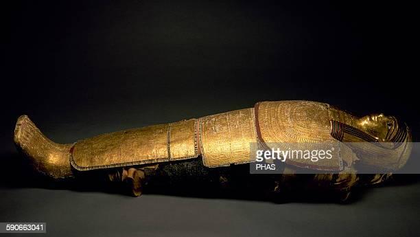 Egypt Nespadeumu mummy Priest of Imhotep Ptolemaic era From Saqqara Necropolis National Archaeological Museum Madrid Spain