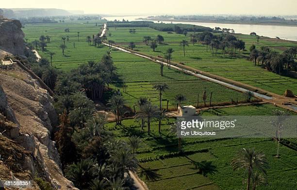 Egypt Nile Valley El Minya Irrigation canal near El Minya
