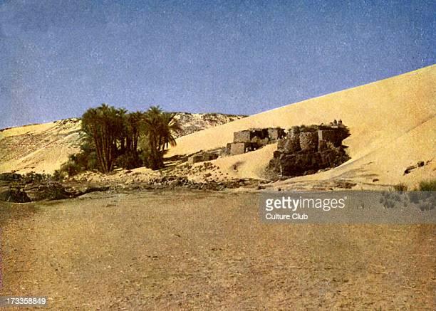 Egypt 'Nubian settlement in the desert' Photo from 1923 book