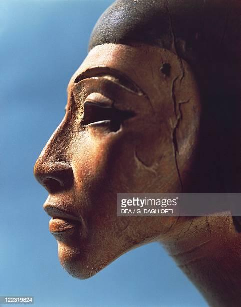 Egypt Ornamental detail of an harp found in elAmarna eighteenth dynasty
