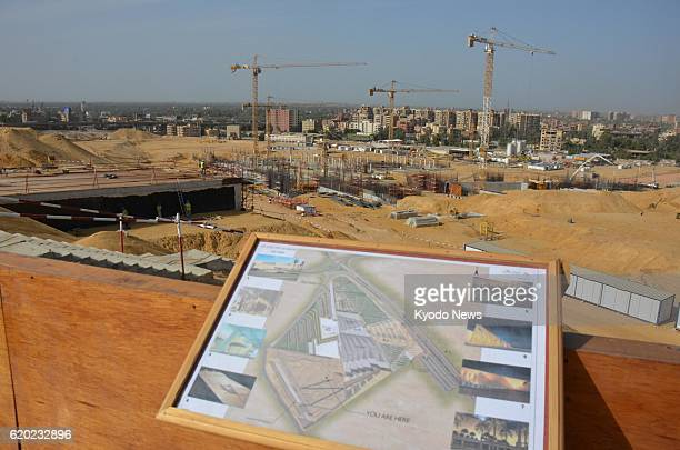 CAIRO Egypt Photo shows the construction site of the Grand Egyptian Museum near the Great Pyramid of Giza on April 3 2013 A plan of the museum is...