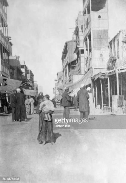 Port Said street scenery undated probably around 1910 Photographer MKoch