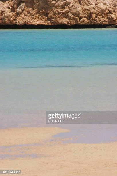 Egypt. Ras Mohammed The Beach Where You Can Find The Blue Hole.