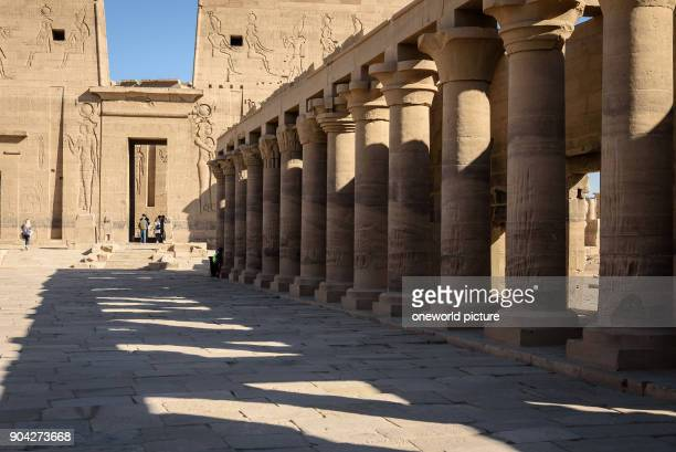 Egypt Red Sea Gouvernement Philae The temple of Philae dedicated to the goddess Hathor is located on a Nile Island UNESCO World Heritage Site