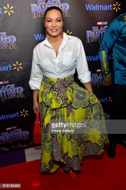 Egypt Sherrod attends 'Black Panther' advance Screeing at Regal Hollywood on February 13 2018 in Chamblee Georgia