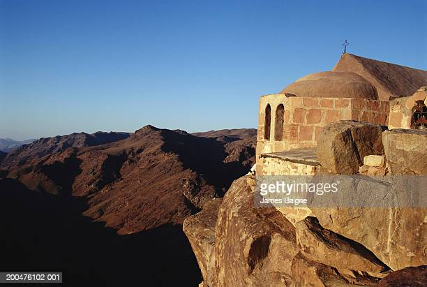 Egypt, Sinai, chapel on peak of Mount Siani, early morning
