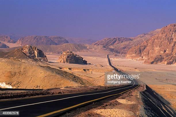 Egypt Sinai Peninsula Near Nuweiba Desert Highway