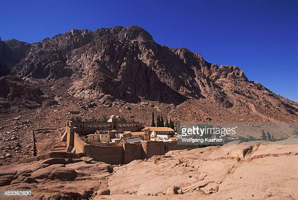 Egypt Sinai Peninsula View Of St Catherine's Monastery Founded In 342 Ad