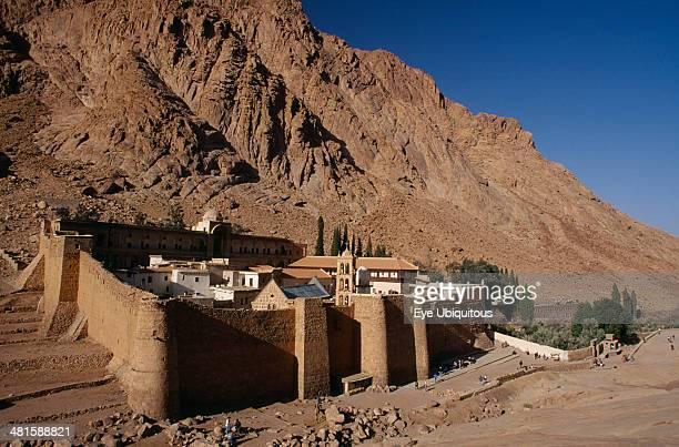 Egypt Sinai St Catherine's Monastery St Catherine's Greek Orthodox Monastery on Mount Sinai dating from 337 AD