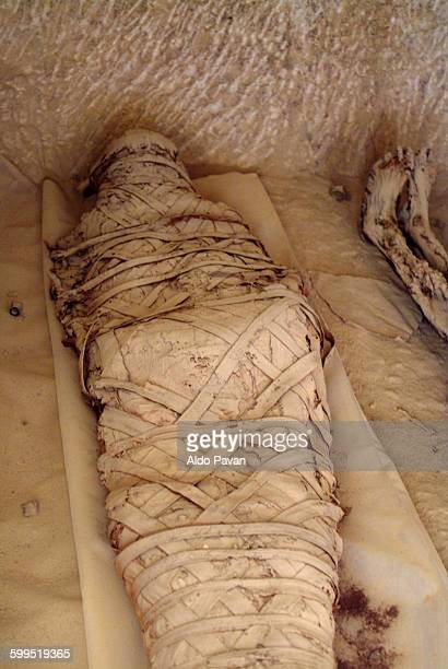 egypt, siwa oasis, nipertathot tomb - mummy stock photos and pictures