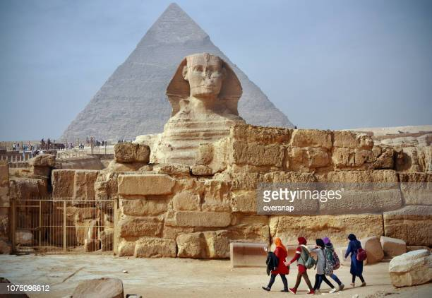 egypt sphinx and pyramids - giza pyramids stock pictures, royalty-free photos & images