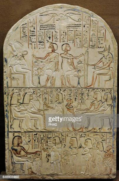 Egypt Stela of Setau decorated with three stripes of relief 14th century BC Sandstone The State Hermitage Museum St Petersburg Russia