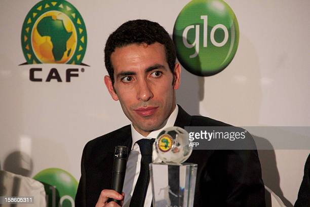 Egypt striker Mohamed Aboutrika attends a press conference after the GLOCAF African Football Awards on December 20 in Accra Ghana Ivorian Yaya Toure...