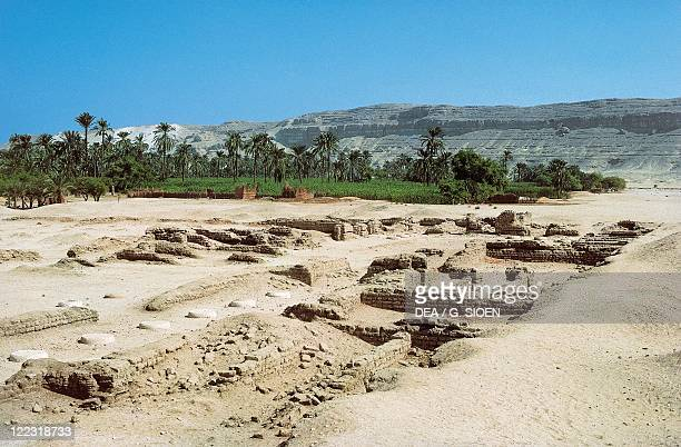 Egypt Tall alAmarnah ruins of the Pharaoh Akhenaton's capital