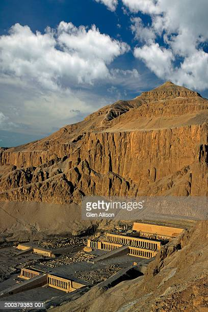 Egypt, Thebes, Luxor, Temple of Hatshepsut, elevated view