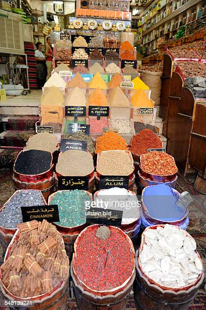 Egypt Upper Egypt Aswan spices in the bazar Sharia esSuq in the old town