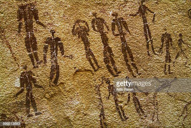 egypt, western desert, gilf kebir - cave painting stock pictures, royalty-free photos & images