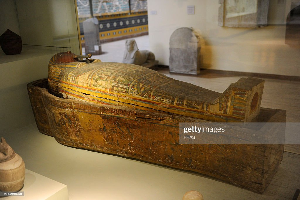 Egyptian coffin from Deir el-Bahri. : News Photo