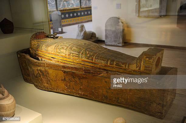 Egypt Wooden coffin from Deir elBahri Archaeological Museum Istanbul Egypt