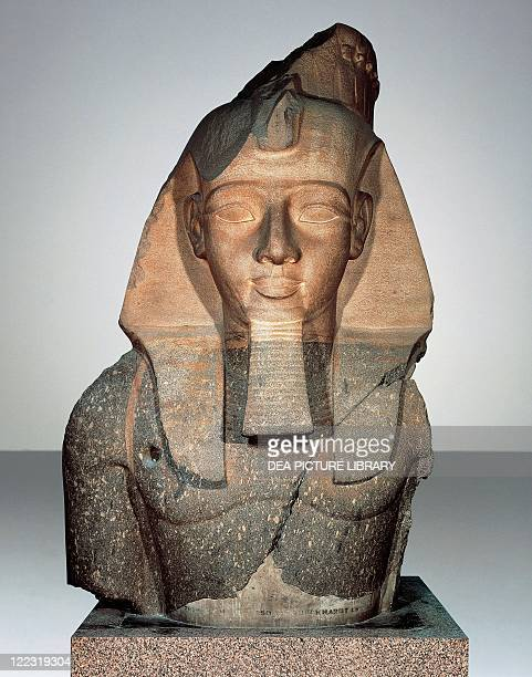Egyptiam civilization New Kingdom Dynasty XIX Colossus of Pharaoh Ramses II From the Ramesseum or Temple of Ramses II in Luxor