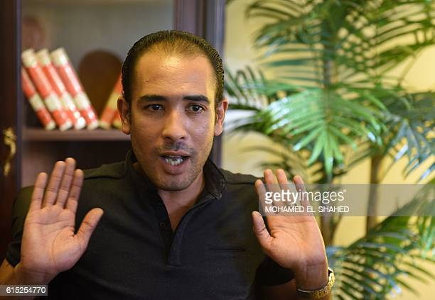 Egyptian activist and human rights lawyer Malek Adly speaks during an interview in the capital Cairo on September 28 2016 Malek Adly was released at...
