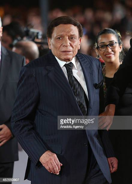 Egyptian actor Adel Imam arrives for the opening ceremony of the 13th annual Marrakech International Film Festival on November 29 2013 in Marrakech...
