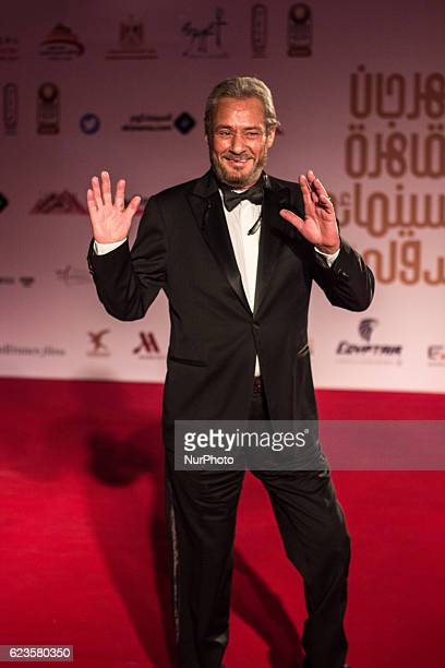 Egyptian actor Faruq alFishawi is seen during the opening session of the 38th Cairo International Film Festival at the Egyptian Opera House in the...