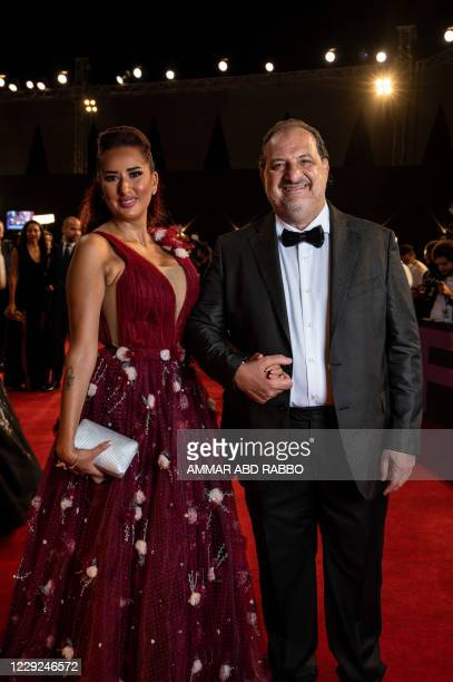 Egyptian actor Khaled El Sawi arrives at the opening ceremony of the 4th edition of El Gouna Film Festival, in the Egyptian Red Sea resort of el...