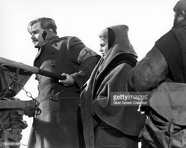 Egyptian actor Omar Sharif as Doctor Yuri Zhivago and English actress Julie Christie as Lara Antipova in 'Doctor Zhivago' directed by David Lean 1965