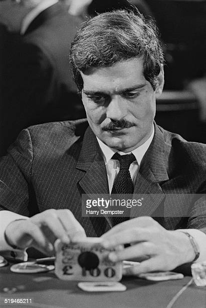 Egyptian actor Omar Sharif at a casino 2nd February 1967