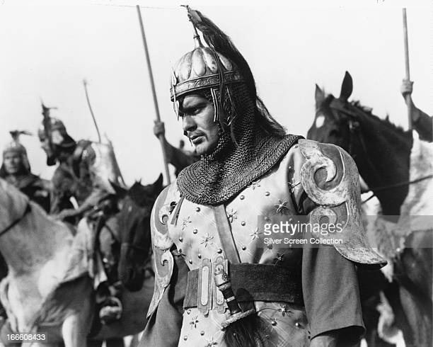 Egyptian actor Omar Sharif in the title role of 'Genghis Khan' directed by Henry Levin 1965