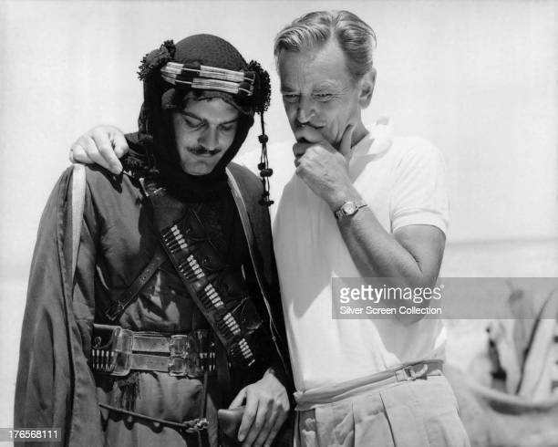 Egyptian actor Omar Sharif with English director David Lean on the set of 'Lawrence Of Arabia, 1962.