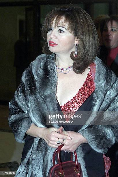 Egyptian actress Elham Shaheen arrives at the opening of the 13th Damascus international film festival late 06 December 2003 The 13th edition opened...