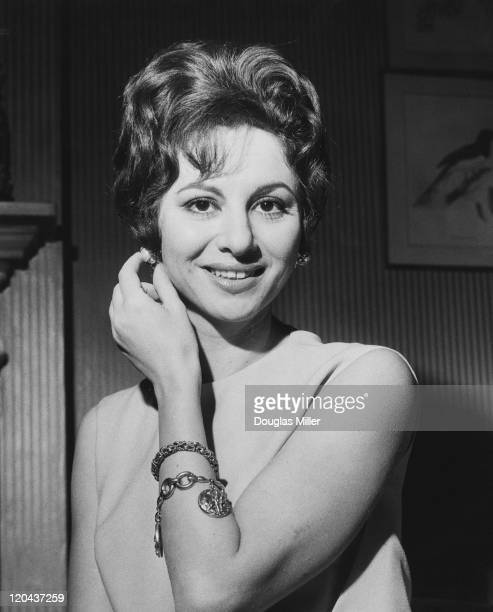 Egyptian actress Faten Hamama during a press conference in London 22nd November 1961 She is in the capital to discuss her plans as a movie producer