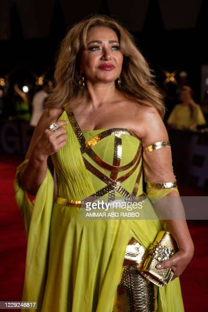Egyptian actress Laila Elwi arrives at the opening ceremony of the 4th edition of El Gouna Film Festival, in the Egyptian Red Sea resort of el Gouna...