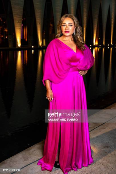 """Egyptian actress Laila Elwi arrives for the screening of the movie """"The Kid"""" on 5th day of the 4th edition of El-Gouna Film Festival, in El-Gouna,..."""