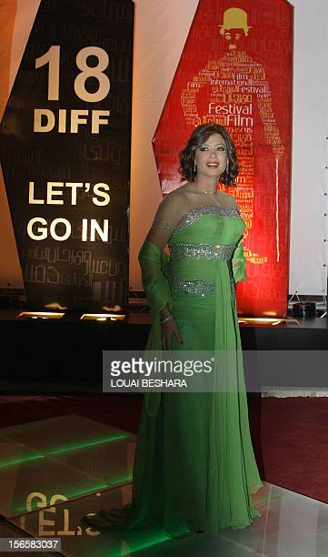 Egyptian actress Manal Salama attends the final day of the Damascus International Film Festival in the Syrian capital on November 13 2010 AFP PHOTO/...