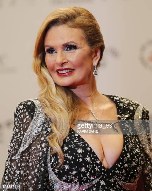 Egyptian actress Yousra attends the Opening Night Gala ceremony of the 13th Dubai International Film Festival on December 7 2016 / AFP / KARIM SAHIB